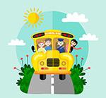 开在路上的校车