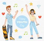 青年节年轻男女
