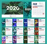 2020树叶年历卡片
