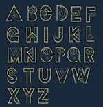 复古星球装饰字母