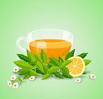 美味红茶和花卉