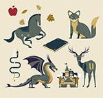 灰色童话里的动物
