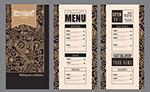 金色花纹餐馆菜单