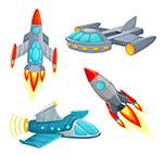 卡通宇宙飞船