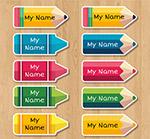 铅笔姓名贴纸