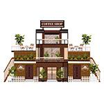时尚三层咖啡馆