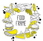 手�L快餐食物框架