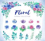 玫瑰花束和叶子