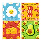 可爱表情食物卡