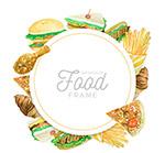 快餐食物框架