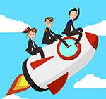 坐火箭的商务团队
