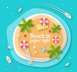 沙滩剪贴画俯视图