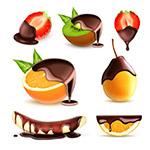 裹着巧克力的水果