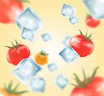 冰�K和番茄矢量
