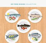 鱼料理俯视图
