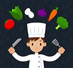 厨师和蔬菜