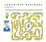 商务男子和迷宫