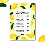 创意柠檬茶水单