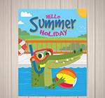 鳄鱼夏季度假传单