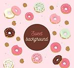 彩色美味甜甜圈