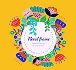 抽象花卉框架
