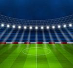 创意夜晚足球赛场