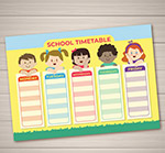 儿童校园课程表