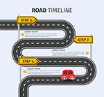 弯曲道路时间轴