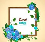 蓝色花卉框架