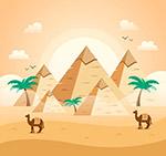 沙漠金字塔风景