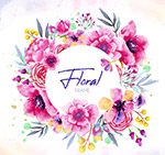 紫色花卉框架