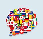 国旗组合语言气泡
