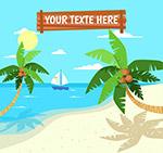 大海椰子树风景