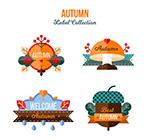 扁平化秋季标签