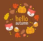 秋季元素组合圆环