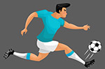奔跑的足球�x手