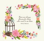 花卉和鸟笼隽语