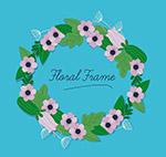粉色花卉花环