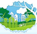 绿色城市风景剪贴画