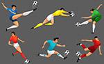 动感足球运动员