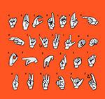创意字母手势