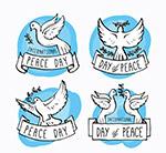 国际和平日白鸽标签