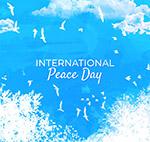 水彩绘国际和平日
