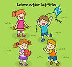 户外玩耍的儿童