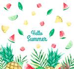 彩绘夏季水果