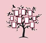 树木形状照片墙