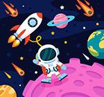 太空中探索的宇航员