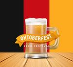 德国国旗和啤酒