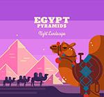 埃及金字塔和骆驼