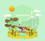 城市生态系统插画